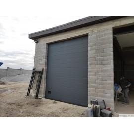 Гаражні секційні ворота GANT PLUS Антарцит 4x3м